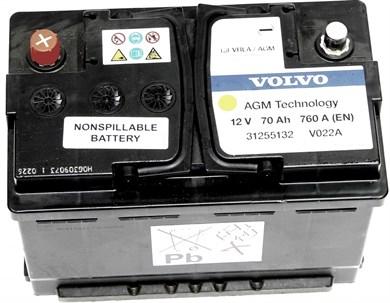 VOLVO 70Ah 760A EN AGM Старт-Стоп - фото 5004