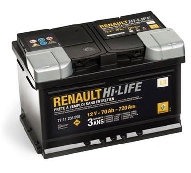 Аккумулятор Renault Hi-LIFE 12V 70Ah 720A - фото 5121