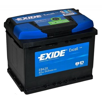 EXIDE Excell EB620 - 62Ah 540A - фото 5126
