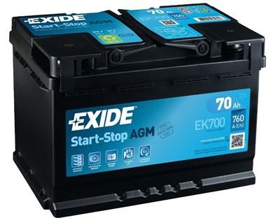 EXIDE Start-Stop AGM EK700 - 70Ah 760A - фото 5128