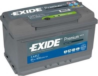 EXIDE Premium EA852 - 85Ah 800A - фото 5129