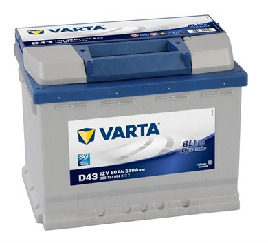 Аккумулятор VARTA Blue Dynamic D43 - 60Ah 540A - фото 5211