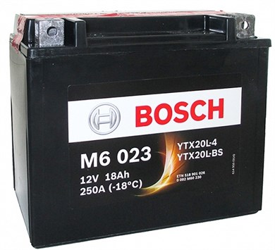BOSCH M6 023 Moto 18Ah 250A - фото 5219