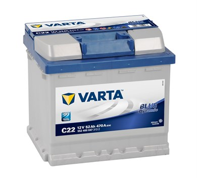 VARTA Blue Dynamic C22 - 52Ah 470A - фото 5373