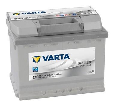 VARTA Silver Dynamic D39 - 63Ah 610A - фото 5377