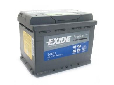 Аккумулятор EXIDE Premium EA641 - 64Ah 640A - фото 5396