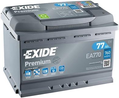EXIDE Premium EA770 - 77Ah 760A - фото 5404
