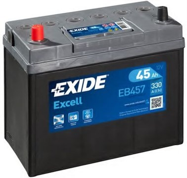 Аккумулятор EXIDE Excell EB457 - 45Ah 330A - фото 5412