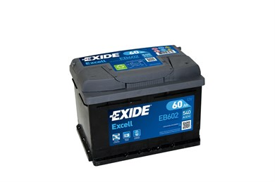 EXIDE Excell EB602 - 60Ah 520A - фото 5416