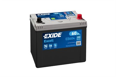 EXIDE Excell EB604 - 60Ah 390A - фото 5418