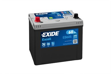 EXIDE Excell EB605 - 60Ah 390A - фото 5420