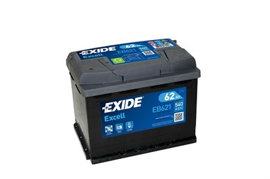 EXIDE Excell EB621 - 62Ah 540A - фото 5422
