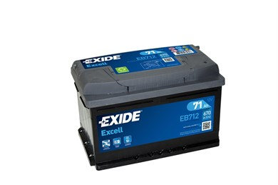 EXIDE Excell EB712 - 71Ah 670A - фото 5426