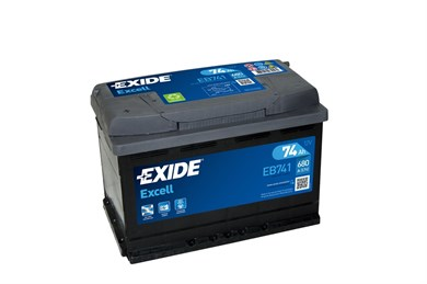 EXIDE Excell EB741 - 74Ah 680A - фото 5428