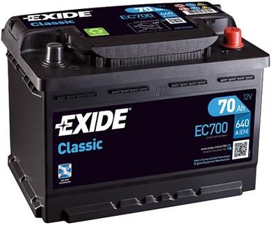 EXIDE Classic EC700 - 70Ah 640A - фото 5438