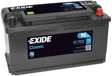 Аккумулятор EXIDE Classic EC900 - 90Ah 900A - фото 5440