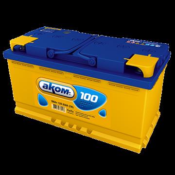 Аккумулятор АКОМ 100Ач 850А (Обратная полярность) - фото 5556