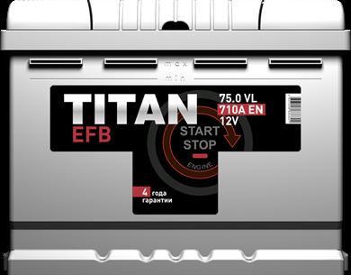 Аккумулятор TITAN EFB 6СТ-75.0 VL - фото 5681