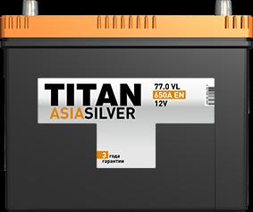 Аккумулятор TITAN ASIA SILVER 77.0 VL 650A EN - фото 5715