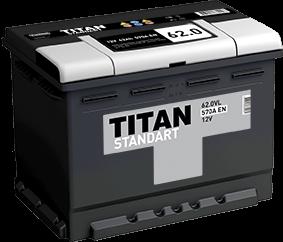 Аккумулятор TITAN STANDART 62.0 L 570A EN - фото 5734