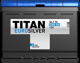 TITAN EURO SILVER 56 Ач 530 А EN L+ - фото 5745