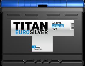 TITAN EURO SILVER 65 Ач 650 А EN R+ - фото 5753