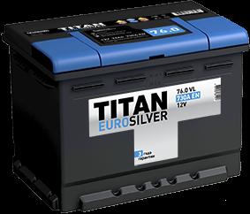 TITAN EURO SILVER 76 Ач 730 А EN R+ - фото 5755