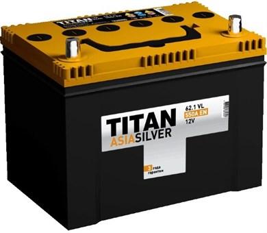 Аккумулятор TITAN ASIA SILVER 62.1 VL 550A EN - фото 5852
