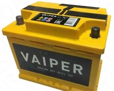 VAIPER 62 Ач 500 А (62.0 L) - фото 5905