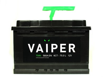 Аккумулятор VAIPER 75 Ач 580 А (75.0 L) - фото 5906