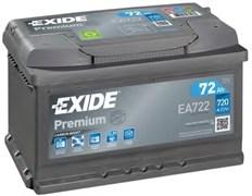 EXIDE Premium EA722 - 72Ah 720A