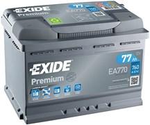 EXIDE Premium EA770 - 77Ah 760A