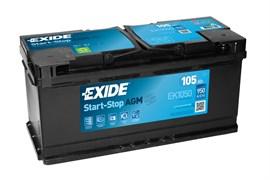 EXIDE Start-Stop AGM EK1050 - 105Ah 1050A