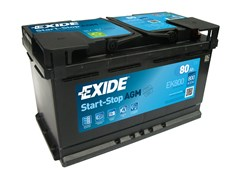 EXIDE Start-Stop AGM EK800 - 80Ah 800A
