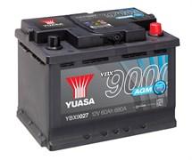 Yuasa YBX9027 60Ah 680A AGM Start Stop R+