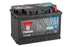 Yuasa YBX9096 70Ah 760A AGM Start Stop R+