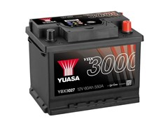 Yuasa 12V 60Ah 550A SMF Battery R+