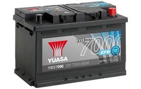 Yuasa 12V 70Ah 650A EFB Start Stop Battery R+