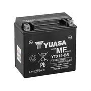 Yuasa YTX14-BS (CP) 12V MF VRLA Battery L+