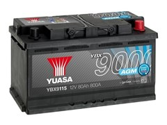 Yuasa YBX9115 80Ah 800A AGM Start Stop R+